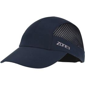 Zone3 Lightweight Mesh Running Baseball Cap petrol/reflective silver